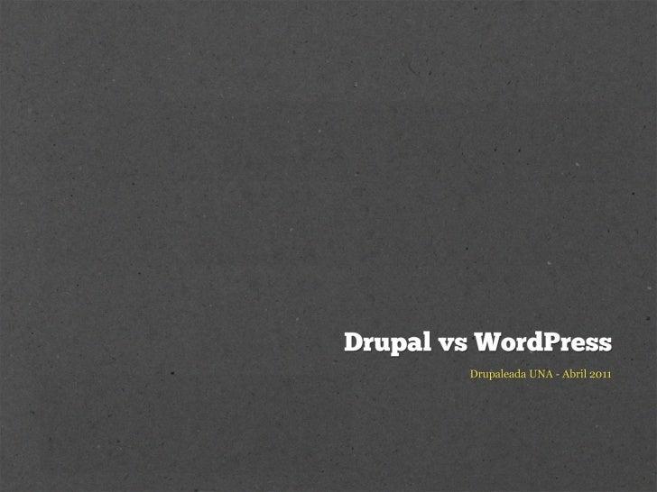 Hablemos sobre Drupal vs WordPress