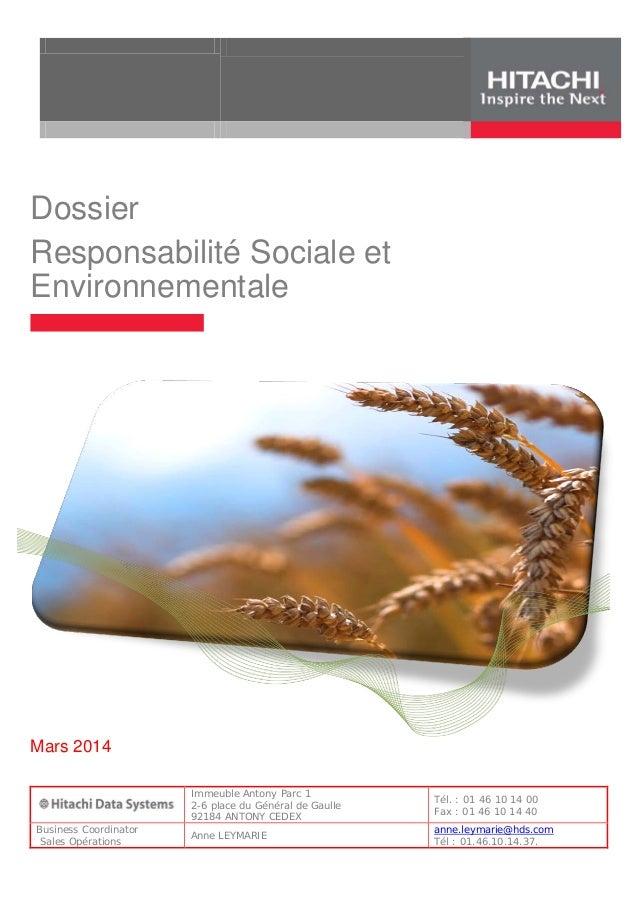 Wp   hds développement durable - mars  2014
