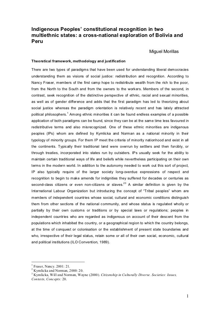 Indigenous Peoples' constitutional recognition in twomultiethnic states: a cross-national exploration of Bolivia andPeru  ...