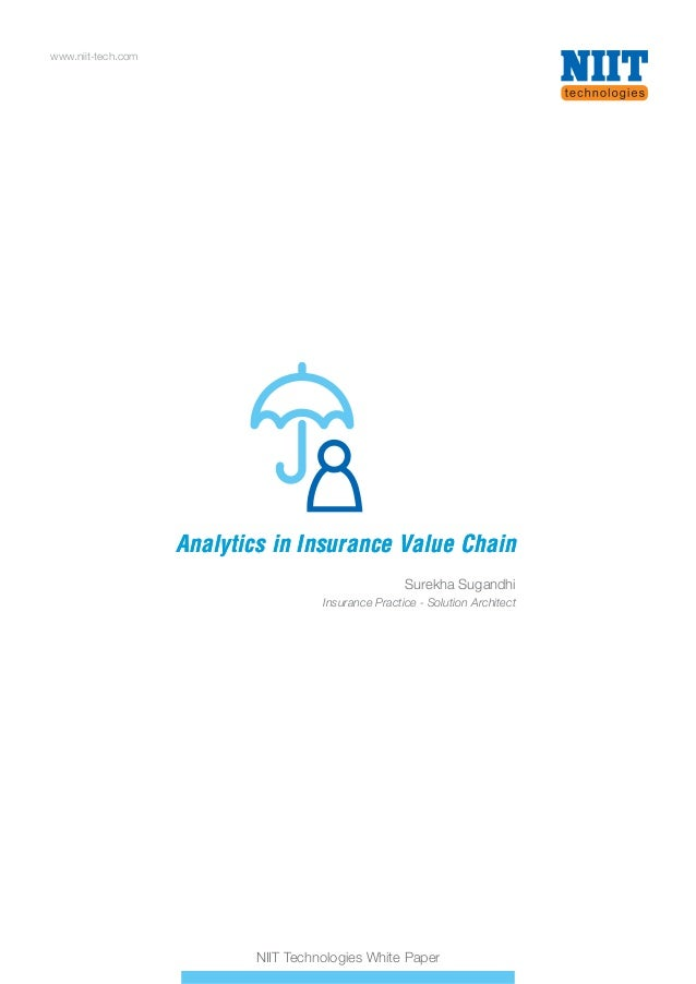 Analytics in Insurance Value Chain