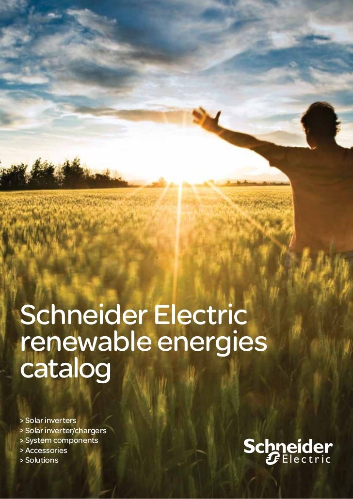 Schneider Electric Renewable Energies Catalog