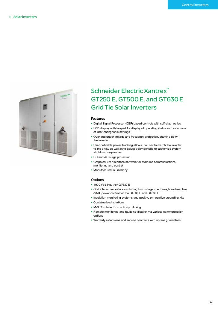 schneider electric renewable energies catalog. Black Bedroom Furniture Sets. Home Design Ideas