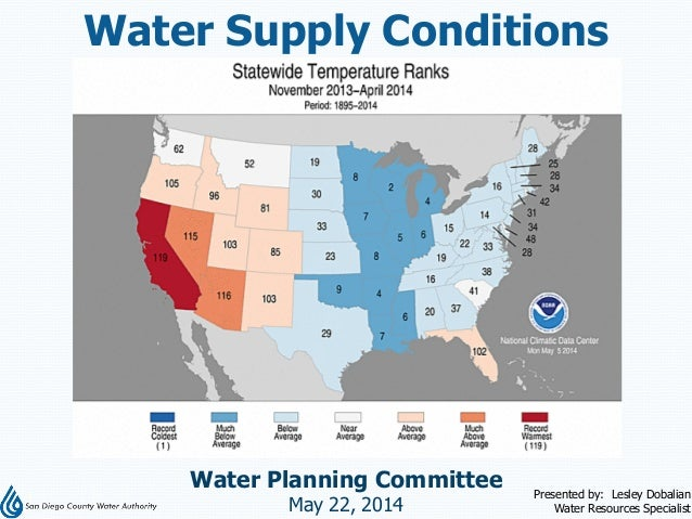 Water Supply Conditions, May 22, 2014