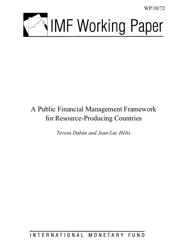 PFM and Resource curse