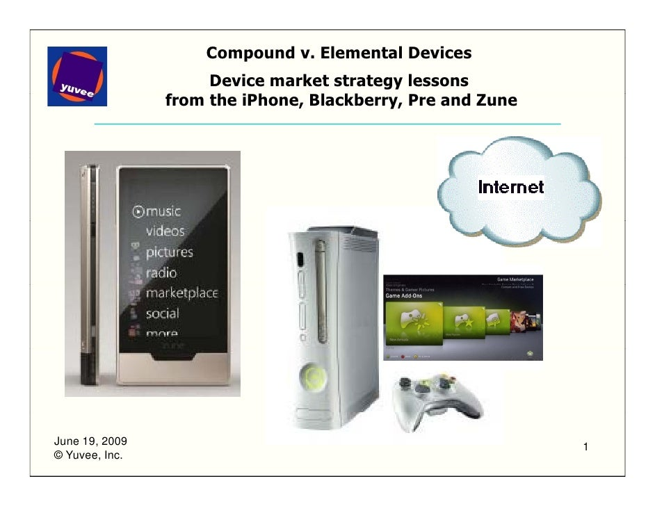Device market strategy lessons from the iPhone, Blackberry, Pre and Zune