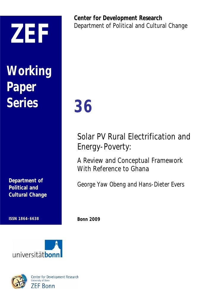Solar PV Rural Electrification and Energy-Poverty