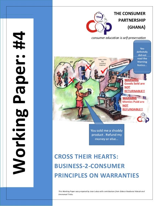 Wp4 final- cross their hearts- business-2-consumer principles on warranties