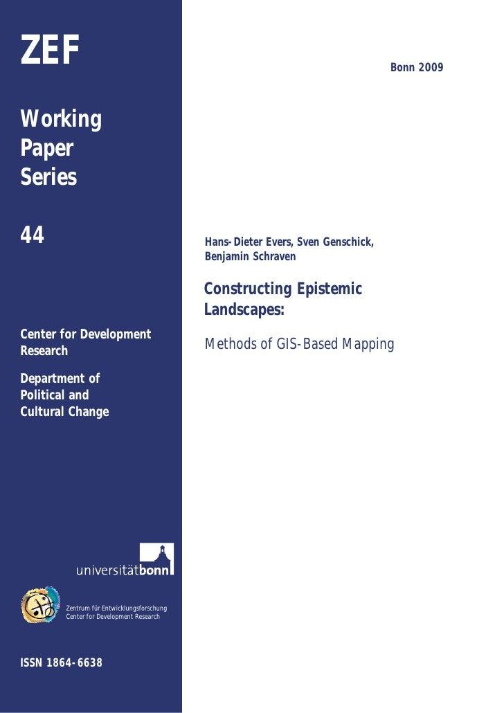ZEF                                                                             Bonn 2009    Working Paper Series  44     ...