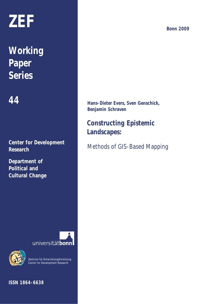 Constructing Epistemic Landscapes: Methods of GIS-Based Mapping
