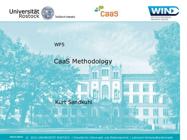 CaaS: Overview of the CDD methodology