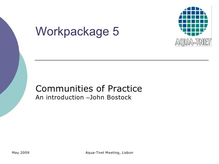 Introduction to Communities of Practice