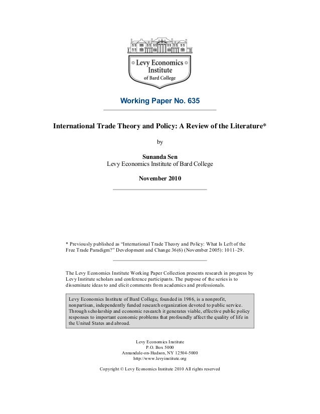 essay international trade The purpose of this paper is to prepare a speech that will be provided to a number of reporters that are not well versed with economics in this paper i will put.