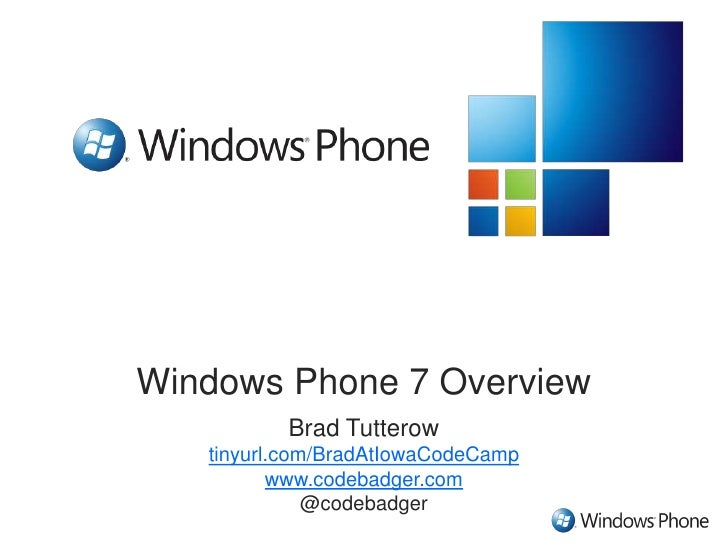 Developing Applications with Windows Phone 7