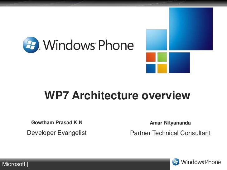 WP7 Architecture overview