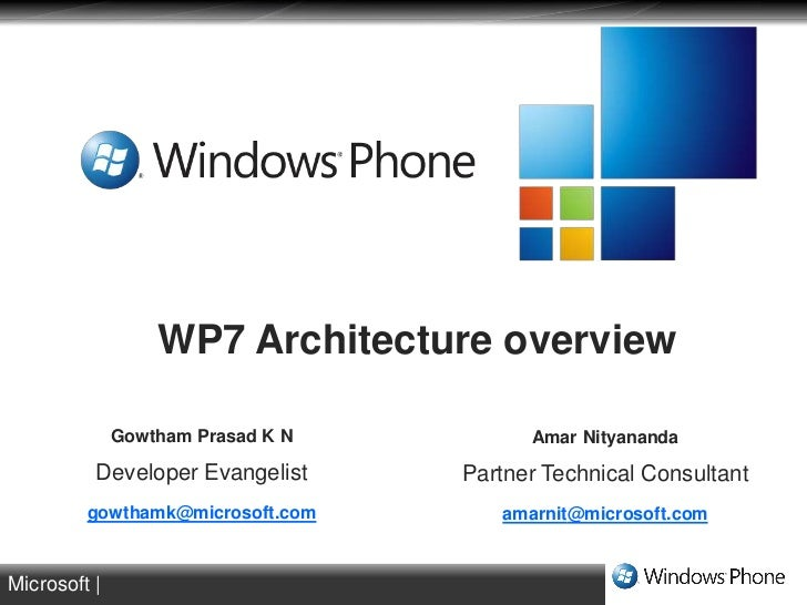 Windows phone 7 architecture overview for Windows 7 architecture