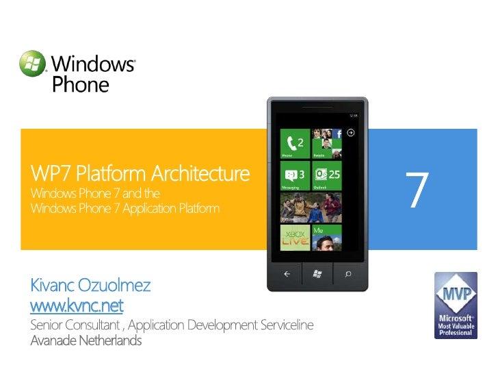 Kivanc Ozuolmez<br />www.kvnc.net<br />Senior Consultant , Application Development Serviceline<br />Avanade Netherlands<br...