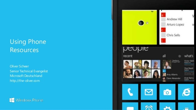 Windows Phone 8 - 10 Using Phone Resources