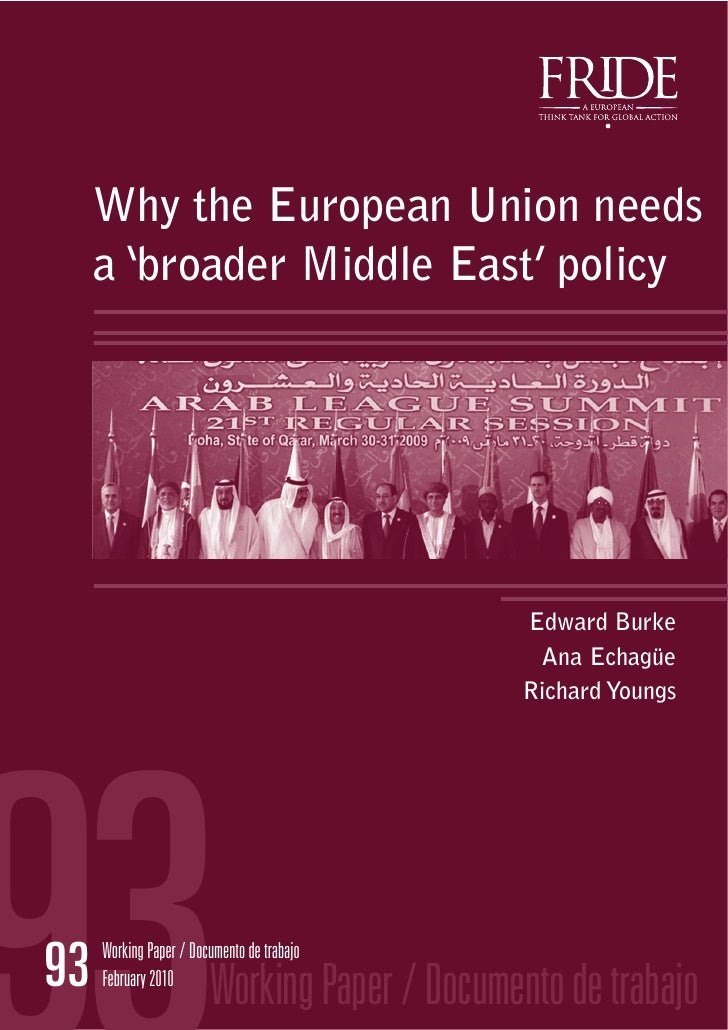 Why the European Union Needs a Broader Middle East Policy