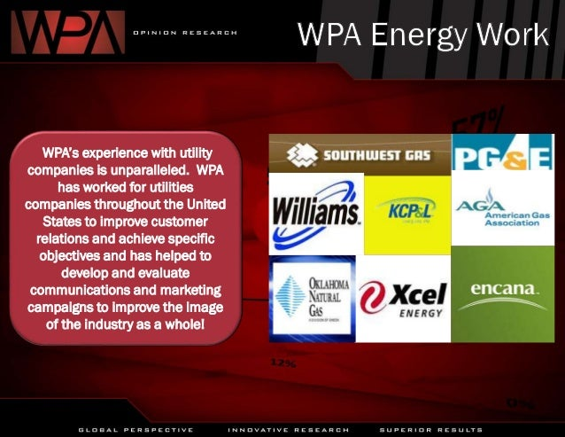 WPA's experience with utility companies is unparalleled. WPA has worked for utilities companies throughout the United Stat...