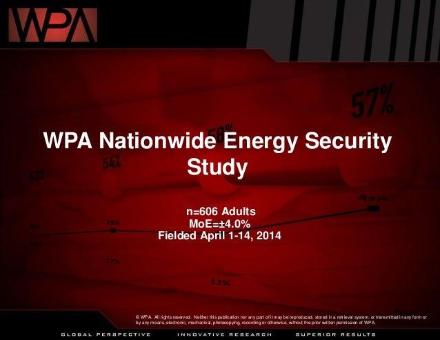 WPA Nationwide Energy Security Study