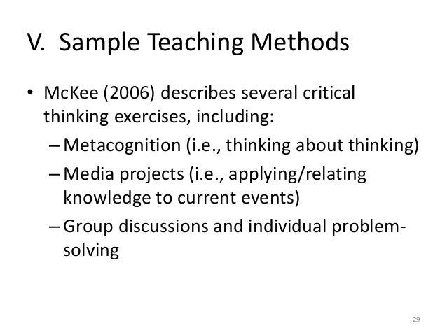 describe critical thinking and problem solving