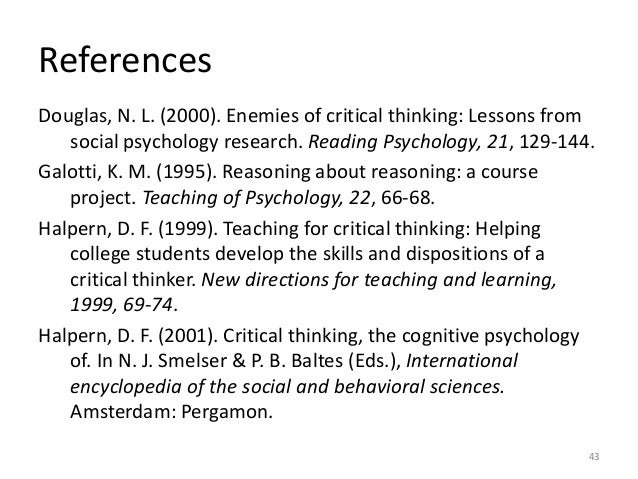 Critical Thinking: Why Is It So Hard to Teach? | Reading