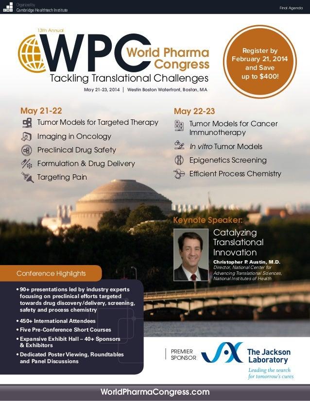 13th Annual World Pharma Congress [Full Agenda]
