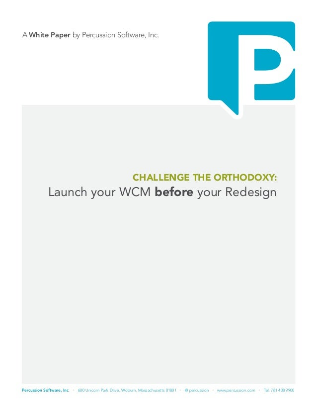 Launch your WCM before your Redesign