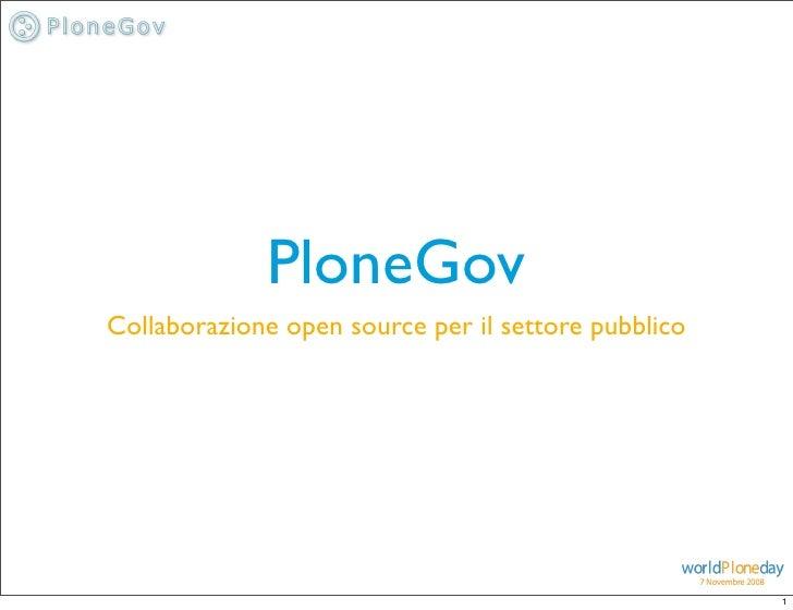 Introduzione a PloneGov