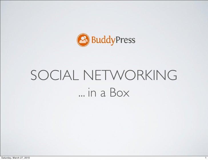 DFW WP Buddypress Presentation