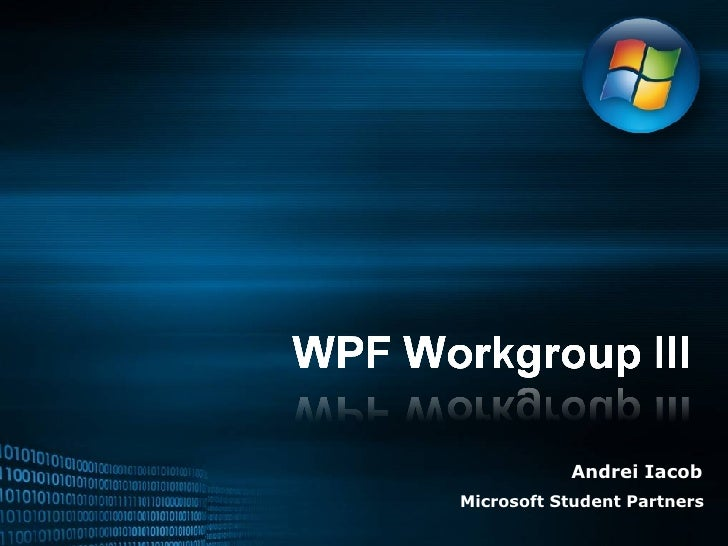 Wpf Workgroup 3