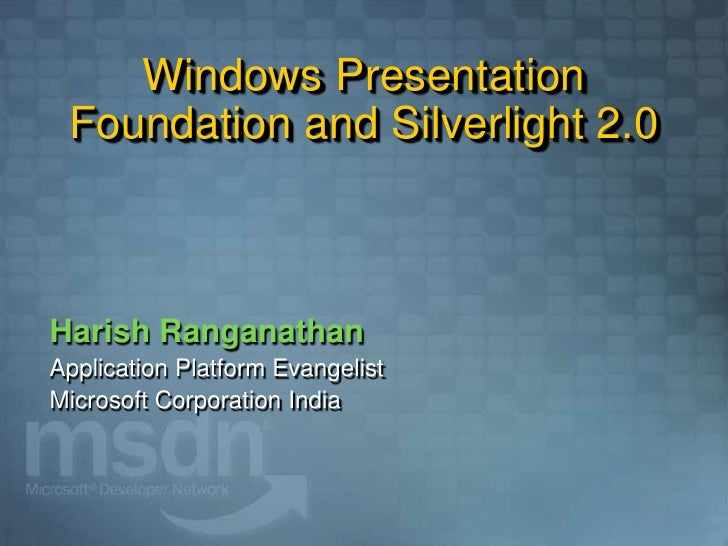 WPF 3.5 SP1 and Silverlight 2