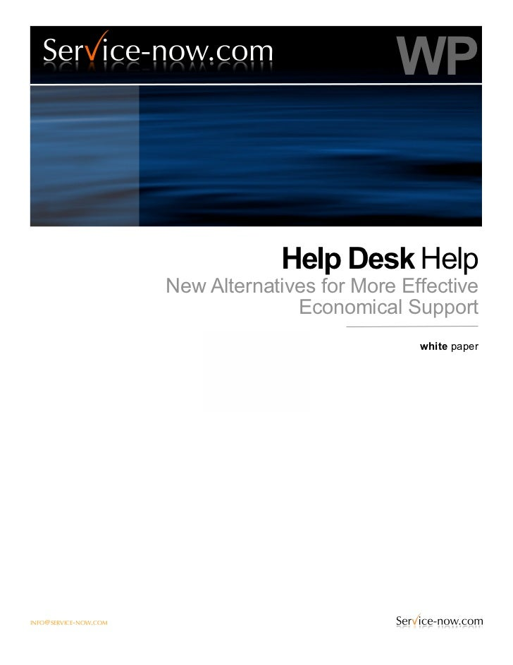 WP                                   Help Desk Help                       New Alternatives for More Effective             ...
