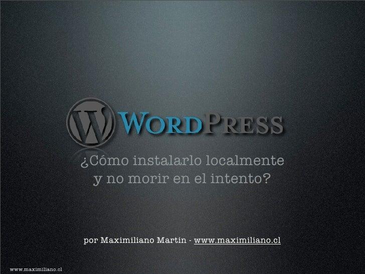 WordPress en servidor local