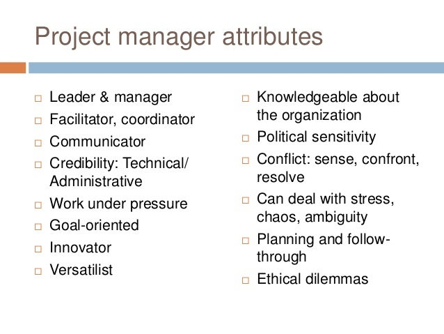 managerial attributes Home management competences management competences: identification and evaluation a professional manager must have suitable characteristics and qualities to be able to function effectively.
