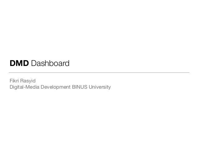 DMD Dashboard Fikri Rasyid  Digital-Media Development BINUS University
