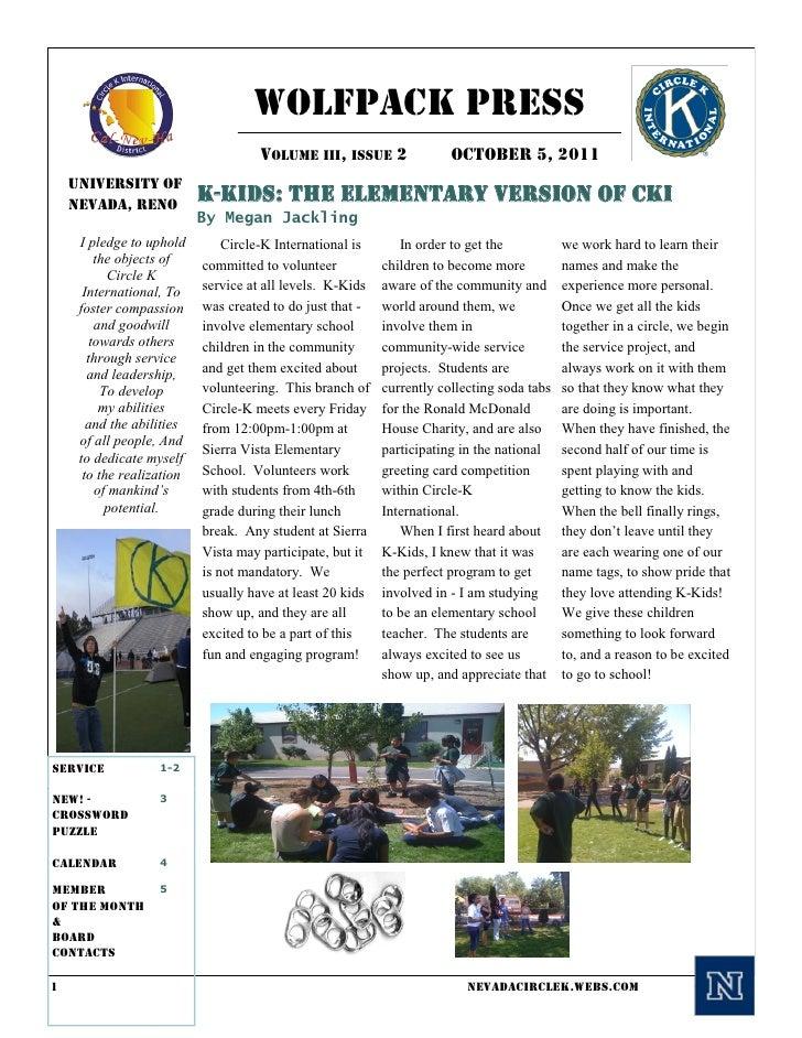 Wolfpack Press                                     VOLUME III, ISSUE 2               OCTOBER 5, 2011    University of    N...