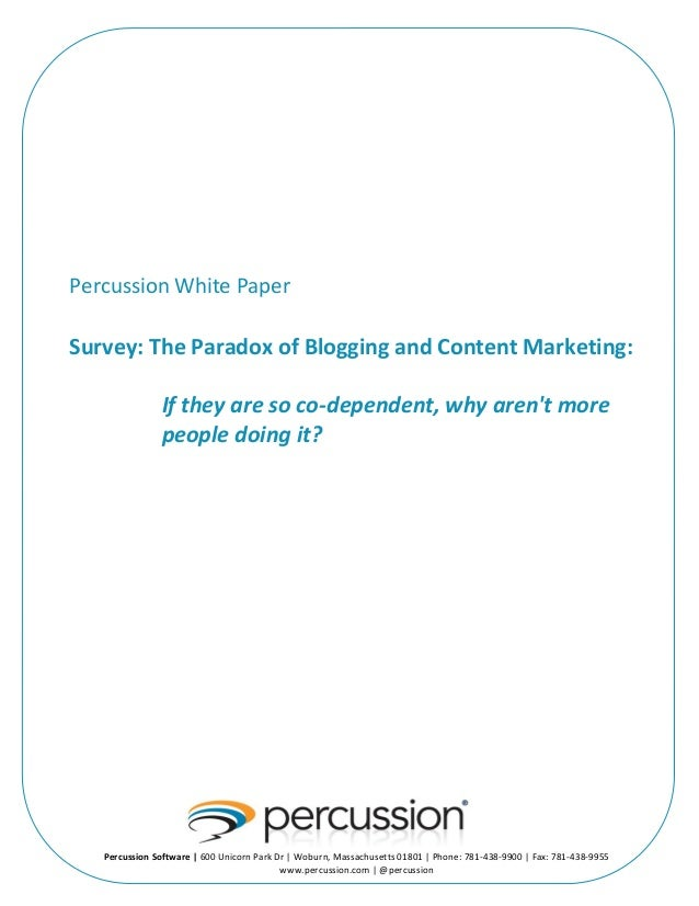 The Paradox of Blogging and Content Marketing