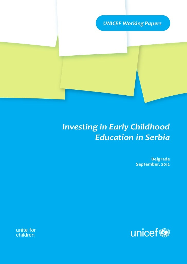 Investing in Early Childhood Education in Serbia