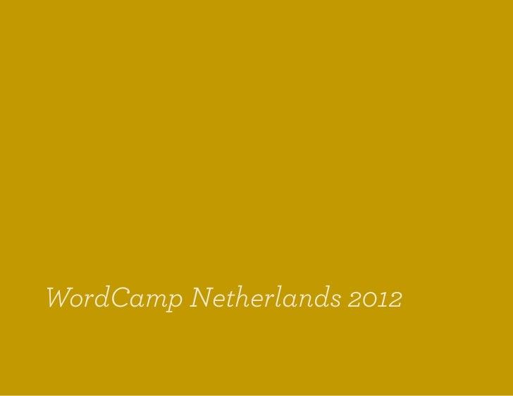 WordCamp Netherlands 2012