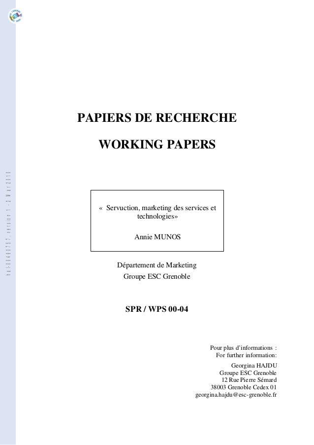PAPIERS DE RECHERCHE                                         WORKING PAPERShal-00460757, version 1 - 2 Mar 2010           ...