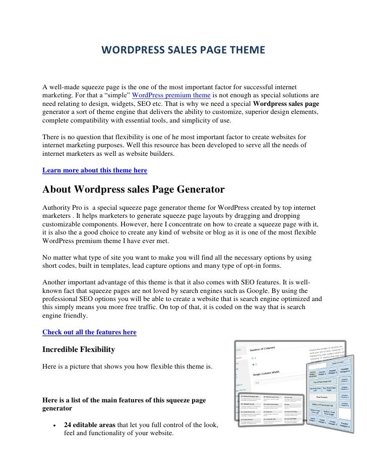 WP Sales Page Theme