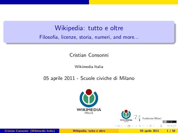 Presentazione Wikipedia Scuole Civiche