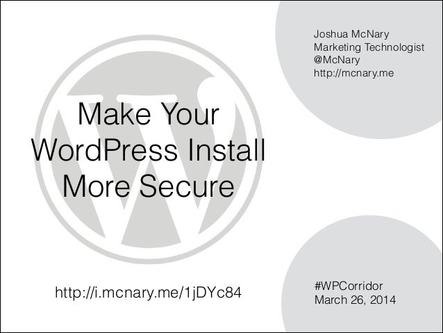 Make Your WordPress Install 