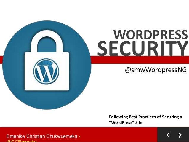 WordPress Security - #smwWordPressNG 2014
