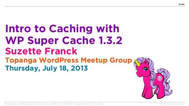 WP Super Cache - Topanga WordPress Meetup
