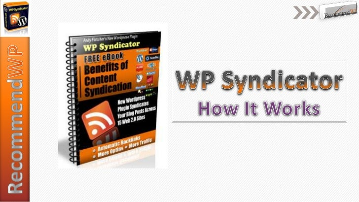 RecommendWP<br />WP Syndicator<br />How It Works<br />