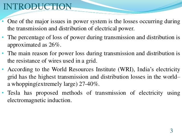 Electricity Distribution Losses Definition