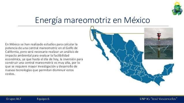 Energia Renovable Mexico Energía Mareomotriz en México