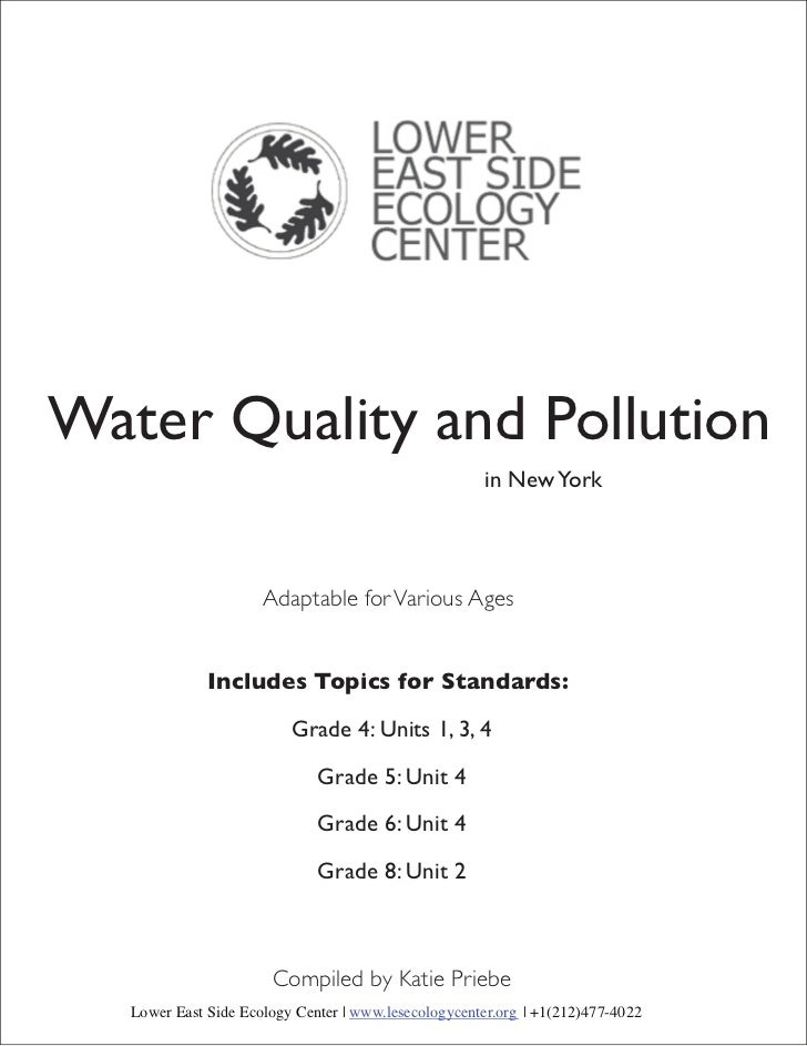 Water Quality and Pollution                                                      in New York                      Adaptabl...